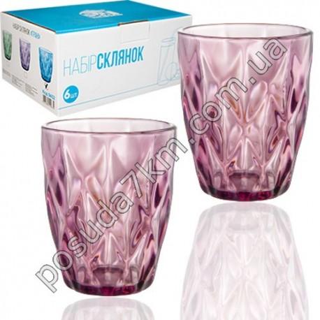 Набор стаканов Грани - бордо
