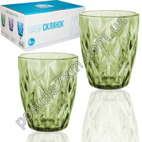 Набор стаканов Грани - изумруд